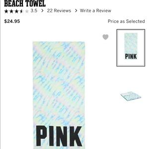 PINK beach or pool towel